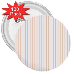 Pale Cucumber Pin Stripe on White 3  Buttons (100 pack)