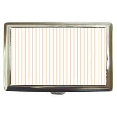 Pale Cucumber Pin Stripe on White Cigarette Money Cases