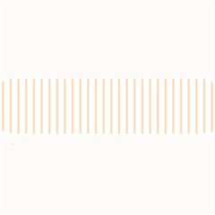 Pale Cucumber Pin Stripe on White Large Bar Mats