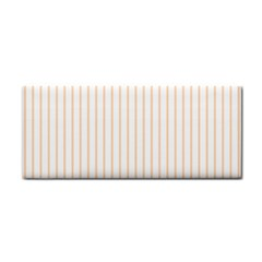 Pale Cucumber Pin Stripe on White Cosmetic Storage Cases