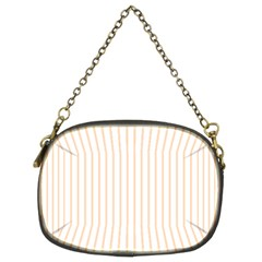 Pale Cucumber Pin Stripe on White Chain Purses (Two Sides)