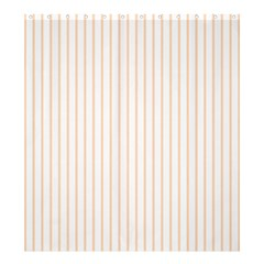 Pale Cucumber Pin Stripe on White Shower Curtain 66  x 72  (Large)