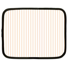 Pale Cucumber Pin Stripe on White Netbook Case (XL)