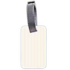 Pale Cucumber Pin Stripe on White Luggage Tags (Two Sides)