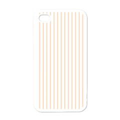 Pale Cucumber Pin Stripe on White Apple iPhone 4 Case (White)