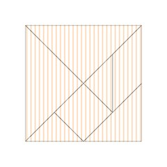 Pale Cucumber Pin Stripe on White Acrylic Tangram Puzzle (4  x 4 )