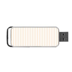Pale Cucumber Pin Stripe on White Portable USB Flash (Two Sides)