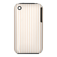 Pale Cucumber Pin Stripe on White iPhone 3S/3GS