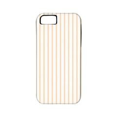 Pale Cucumber Pin Stripe on White Apple iPhone 5 Classic Hardshell Case (PC+Silicone)