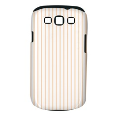 Pale Cucumber Pin Stripe on White Samsung Galaxy S III Classic Hardshell Case (PC+Silicone)