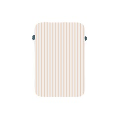 Pale Cucumber Pin Stripe on White Apple iPad Mini Protective Soft Cases