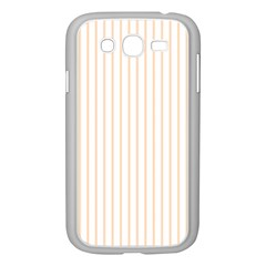 Pale Cucumber Pin Stripe on White Samsung Galaxy Grand DUOS I9082 Case (White)