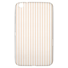 Pale Cucumber Pin Stripe on White Samsung Galaxy Tab 3 (8 ) T3100 Hardshell Case