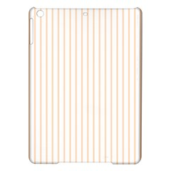 Pale Cucumber Pin Stripe on White iPad Air Hardshell Cases