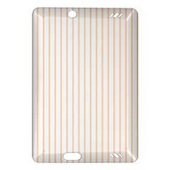 Pale Cucumber Pin Stripe on White Amazon Kindle Fire HD (2013) Hardshell Case