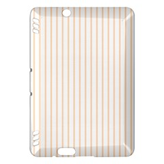 Pale Cucumber Pin Stripe on White Kindle Fire HDX Hardshell Case