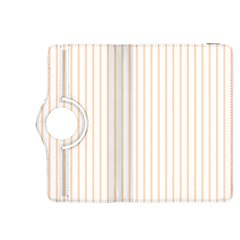 Pale Cucumber Pin Stripe on White Kindle Fire HDX 8.9  Flip 360 Case