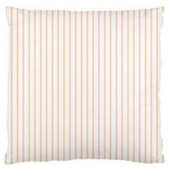 Pale Cucumber Pin Stripe on White Standard Flano Cushion Case (One Side)