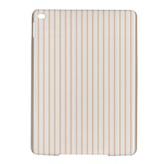Pale Cucumber Pin Stripe on White iPad Air 2 Hardshell Cases
