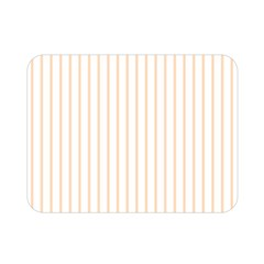 Pale Cucumber Pin Stripe on White Double Sided Flano Blanket (Mini)