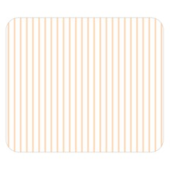 Pale Cucumber Pin Stripe on White Double Sided Flano Blanket (Small)