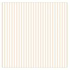 Pale Cucumber Pin Stripe on White Large Satin Scarf (Square)