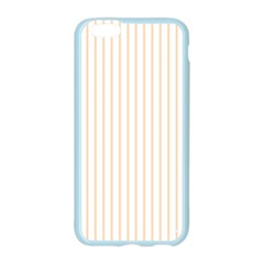Pale Cucumber Pin Stripe on White Apple Seamless iPhone 6/6S Case (Color)