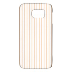 Pale Cucumber Pin Stripe on White Galaxy S6