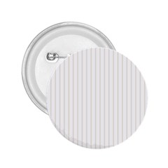 Classic Cream Pin Stripes on White 2.25  Buttons