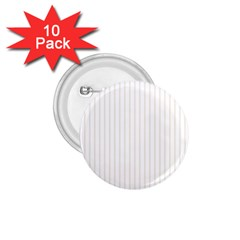 Classic Cream Pin Stripes on White 1.75  Buttons (10 pack)