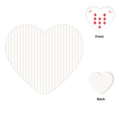 Classic Cream Pin Stripes on White Playing Cards (Heart)