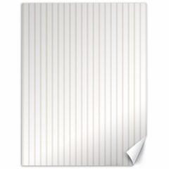 Classic Cream Pin Stripes on White Canvas 18  x 24