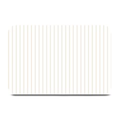 Classic Cream Pin Stripes on White Plate Mats