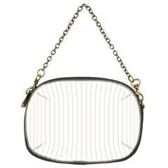 Classic Cream Pin Stripes on White Chain Purses (Two Sides)
