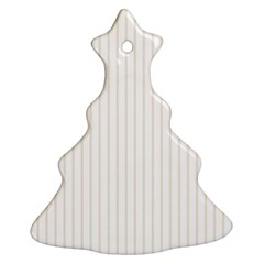 Classic Cream Pin Stripes on White Ornament (Christmas Tree)