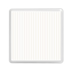 Classic Cream Pin Stripes on White Memory Card Reader (Square)