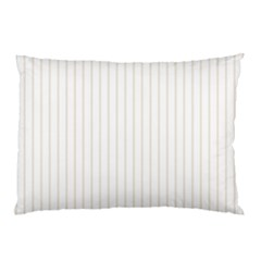 Classic Cream Pin Stripes on White Pillow Case (Two Sides)