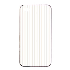 Classic Cream Pin Stripes on White Apple iPhone 4/4s Seamless Case (Black)
