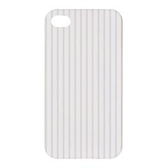 Classic Cream Pin Stripes on White Apple iPhone 4/4S Hardshell Case