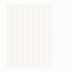 Classic Cream Pin Stripes on White Large Garden Flag (Two Sides)