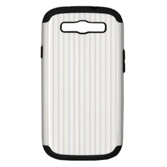 Classic Cream Pin Stripes on White Samsung Galaxy S III Hardshell Case (PC+Silicone)