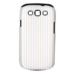 Classic Cream Pin Stripes on White Samsung Galaxy S III Classic Hardshell Case (PC+Silicone)