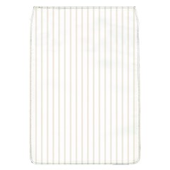 Classic Cream Pin Stripes on White Flap Covers (L)