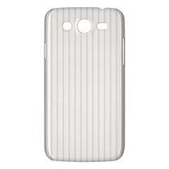 Classic Cream Pin Stripes on White Samsung Galaxy Mega 5.8 I9152 Hardshell Case