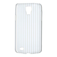 Classic Cream Pin Stripes on White Galaxy S4 Active