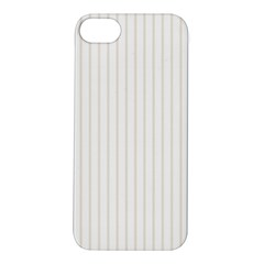 Classic Cream Pin Stripes on White Apple iPhone 5S/ SE Hardshell Case