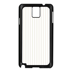 Classic Cream Pin Stripes on White Samsung Galaxy Note 3 N9005 Case (Black)