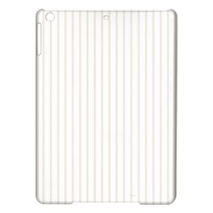 Classic Cream Pin Stripes on White iPad Air Hardshell Cases