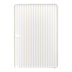 Classic Cream Pin Stripes on White Samsung Galaxy Tab Pro 12.2 Hardshell Case