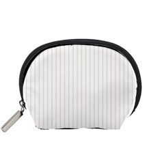 Classic Cream Pin Stripes on White Accessory Pouches (Small)